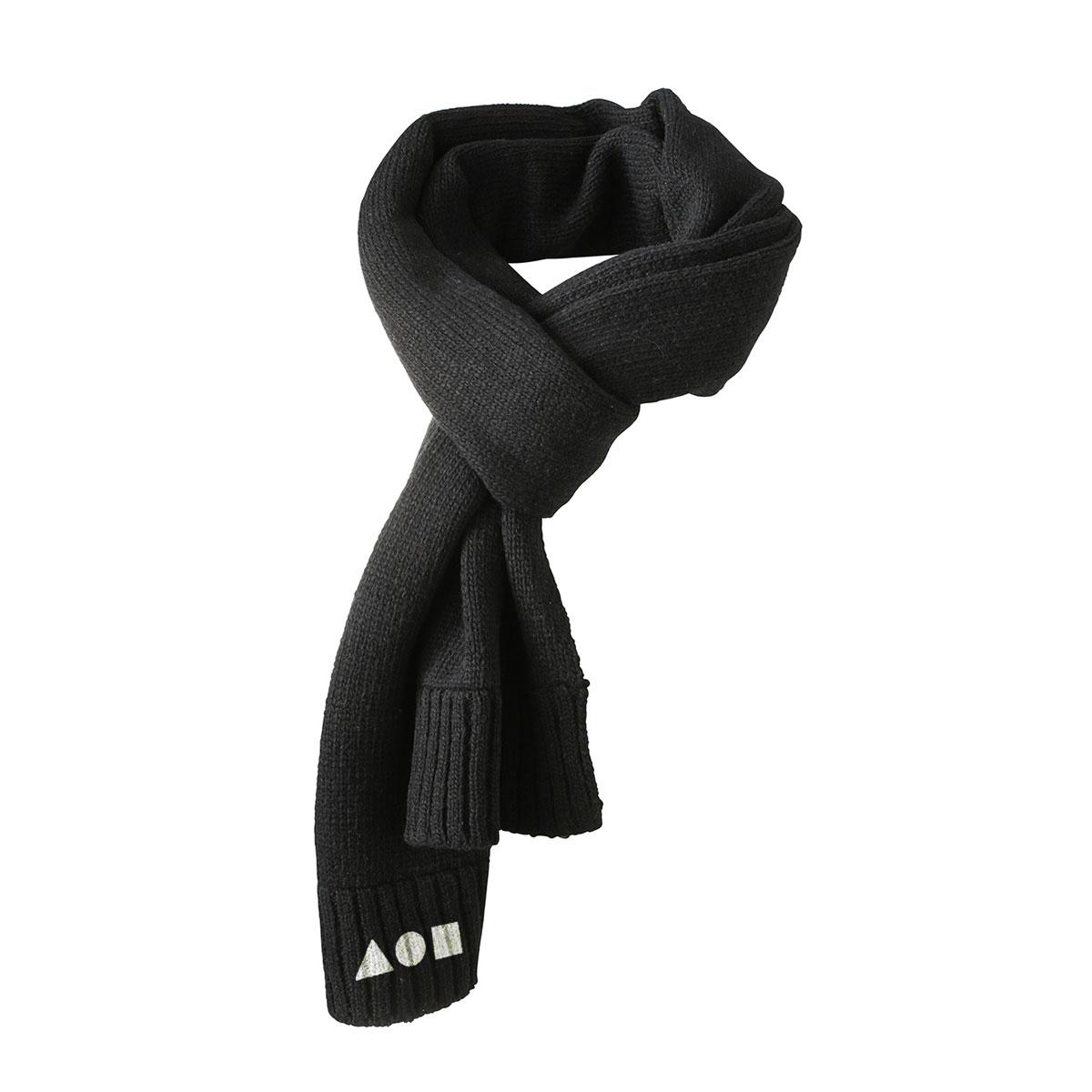 Sciarpa Pandemonio nera con logo bianco