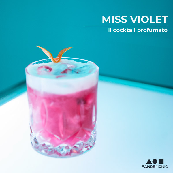 Miss Violet Cocktail - Pandemonio Spoleto
