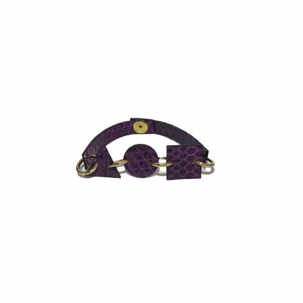 Bracciale Viola Pitonato in Pelle